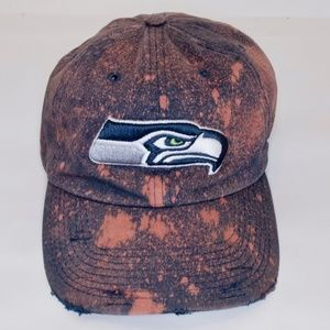 Seattle Seahawks Acid Washed Distressed Hat